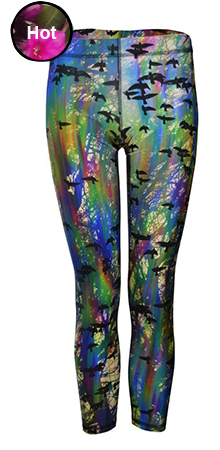 Iridescent Crows Leggings