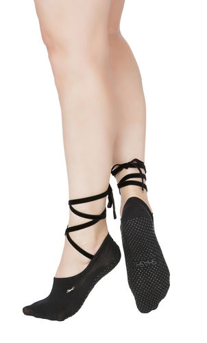 Essentials Ballet Tie Socken Black