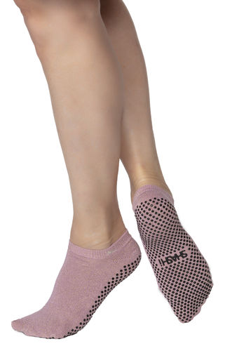 Basic Full  Foot Socken - Rose Gold